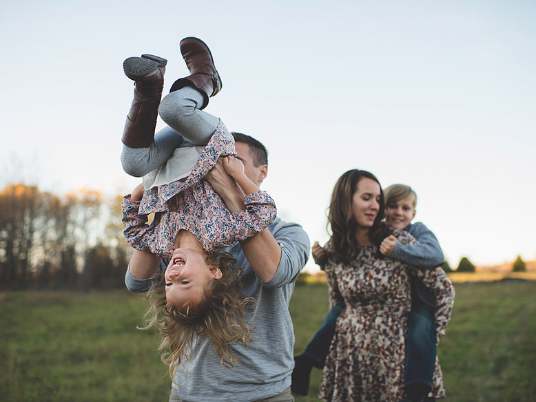 Picture of a family having fun